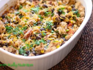 Fast healthy meal ideas include this healthy Mexican casserole recipe