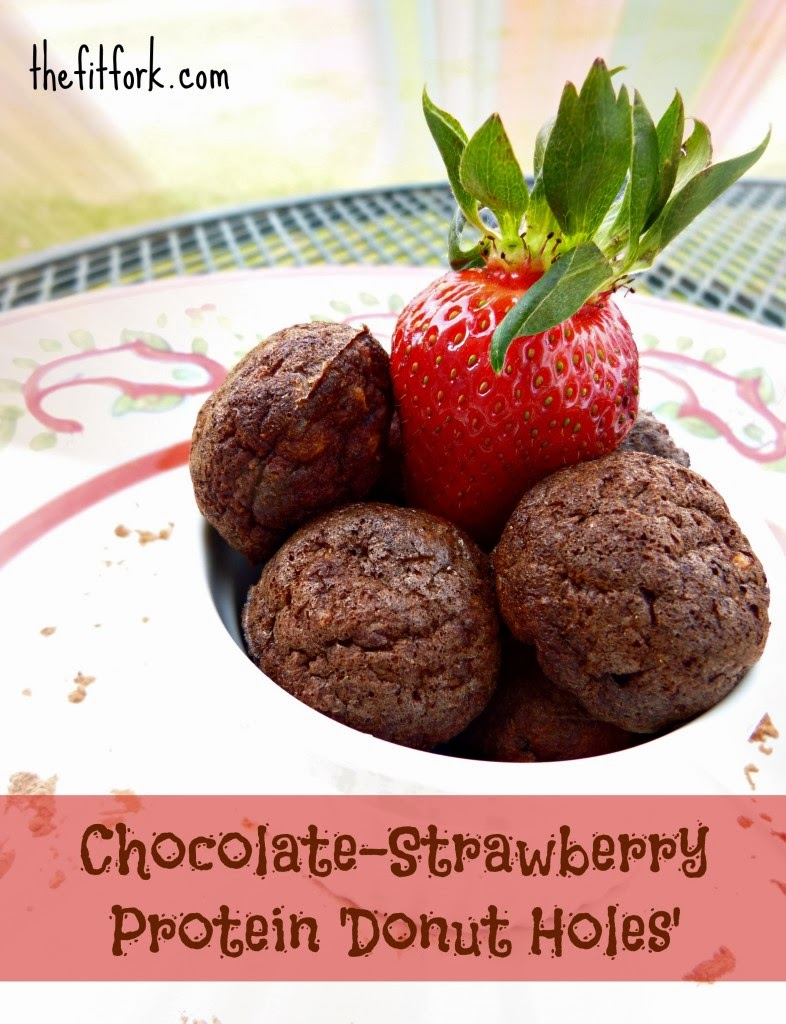 Chocolate-Strawberry Protein Donut Holes