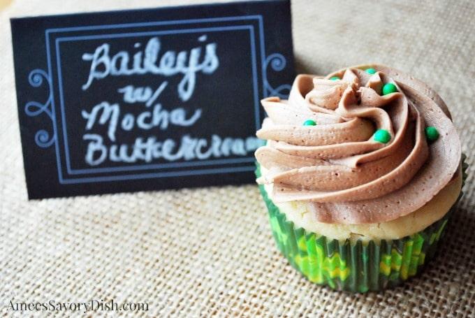 Bailey's Irish Cream Cupcake with Mocha Frosting