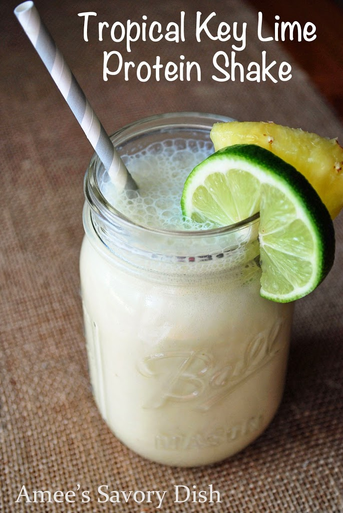 A tropical key lime protein shake is a great way to fuel your body as part of a healthy breakfast, lunch, or even just a healthy snack.