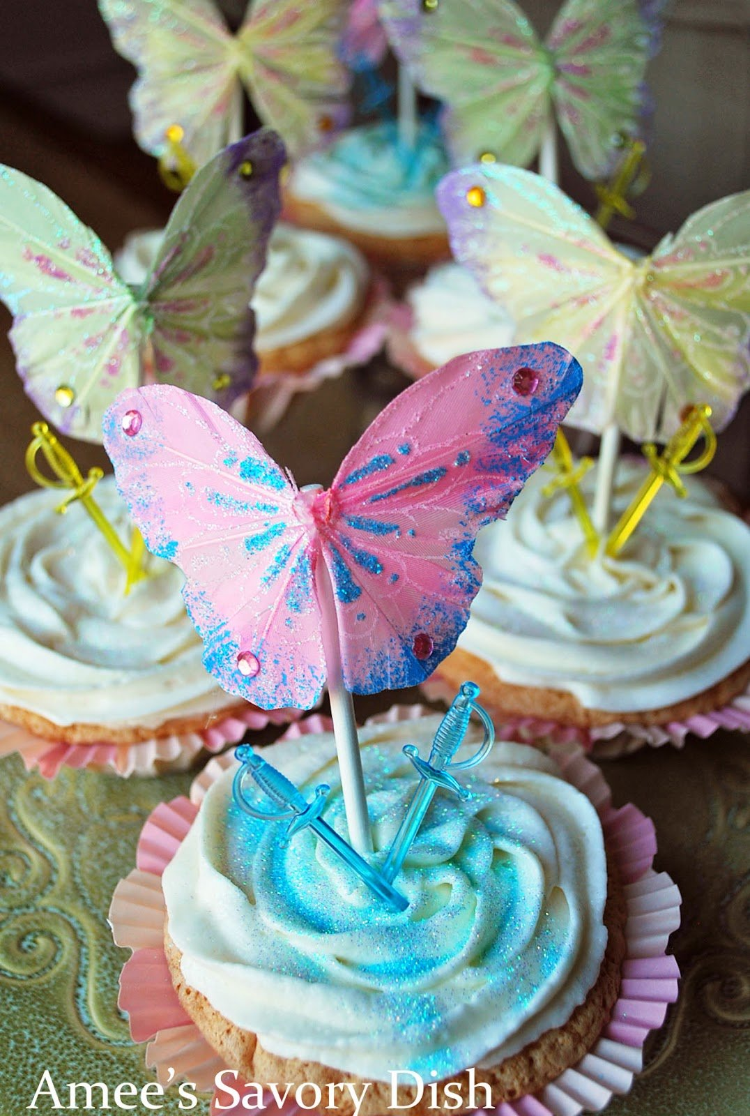 "Pirate Fairy Cupcakes are whimsical themed cupcakes, inspired by the Disney Movie, ""The Pirate Fairy"""