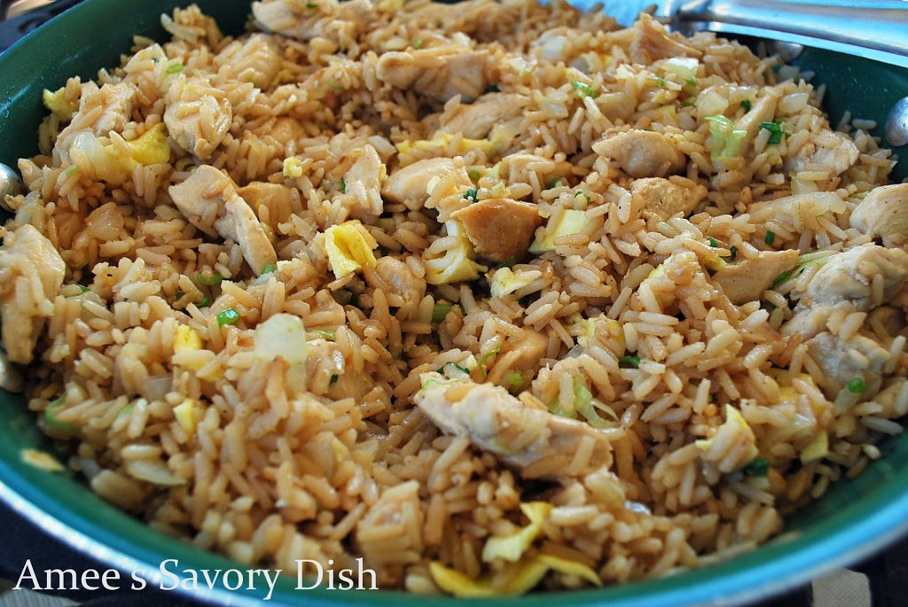 Chicken Fried Brown Rice - a healthier fried rice recipe