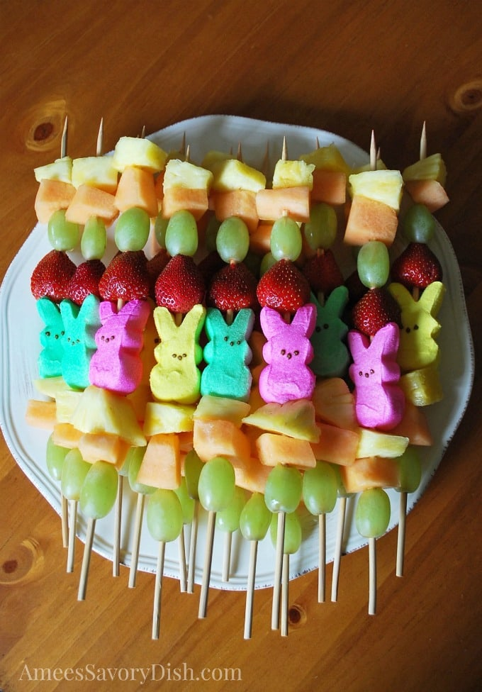 Peep Fruit Kabobs