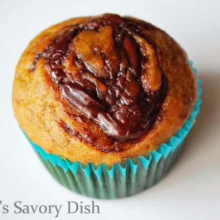 This easy muffins recipe for Nutella Swirl Banana Muffins is kid-friendly and the best banana muffins I've ever tasted.