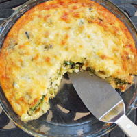 crustless quiche with bacon