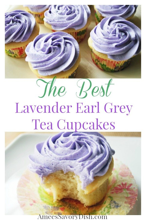 Lavender earl grey tea is the shining star of this easy homemade cupcakes recipe, made famous at Georgetown Cupcakes! Get the cupcakes recipe here. via @Ameessavorydish