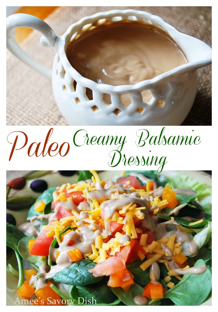 Paleo Creamy Balsamic Dressing