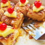 Hawaiian ham slidersare delicious mini sandwiches, filled with teriyaki glazed ham, pineapple, bacon, and cheese.