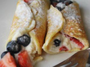 Berry Stuffed Crepes recipe