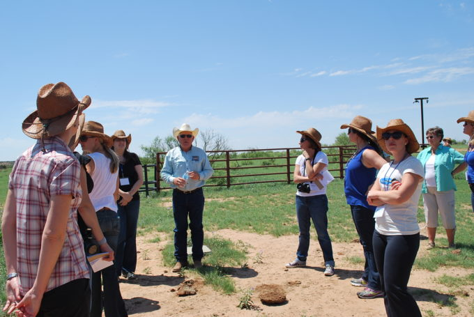 food bloggers visit a beef cattle ranch