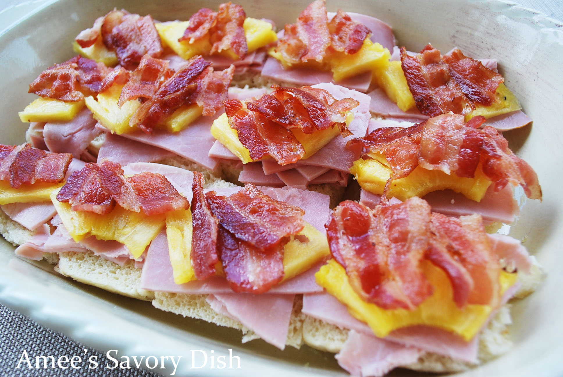 how to put pineapple on ham
