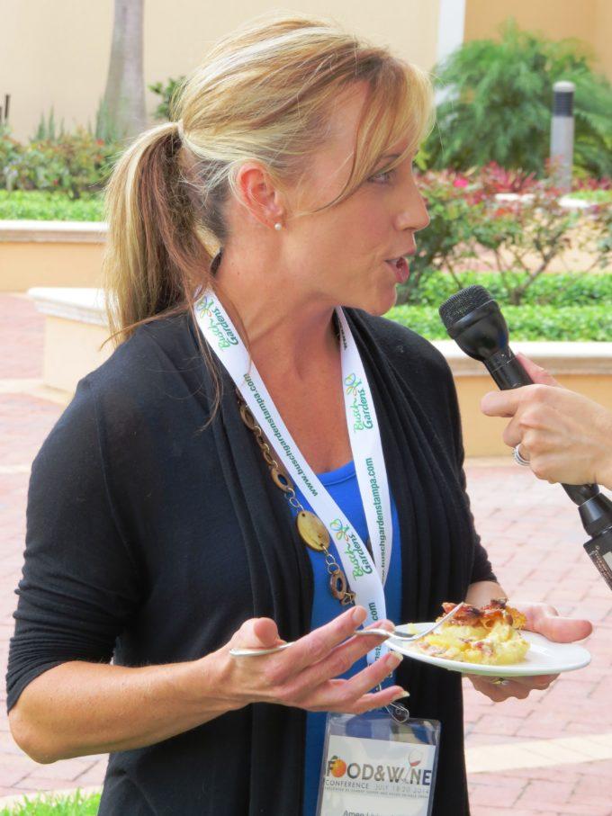 Being interviewed for my award-winning recipe