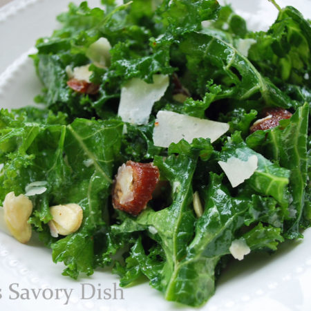 best kale salad! Kale salad with dates, Parmesan cheese, and almonds