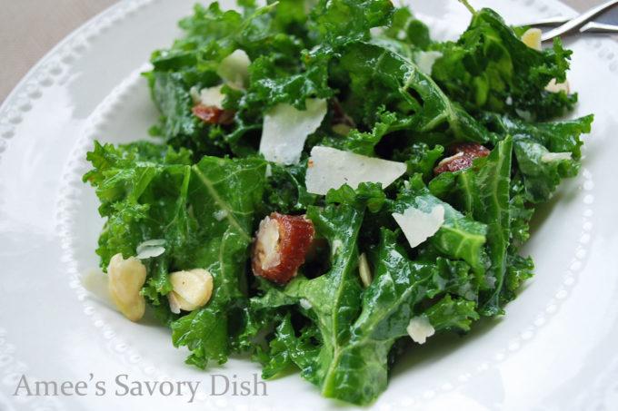Kale Salad with Dates, Parmesan & Almonds