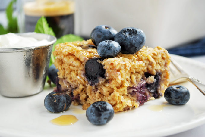 The best blueberry baked oatmeal