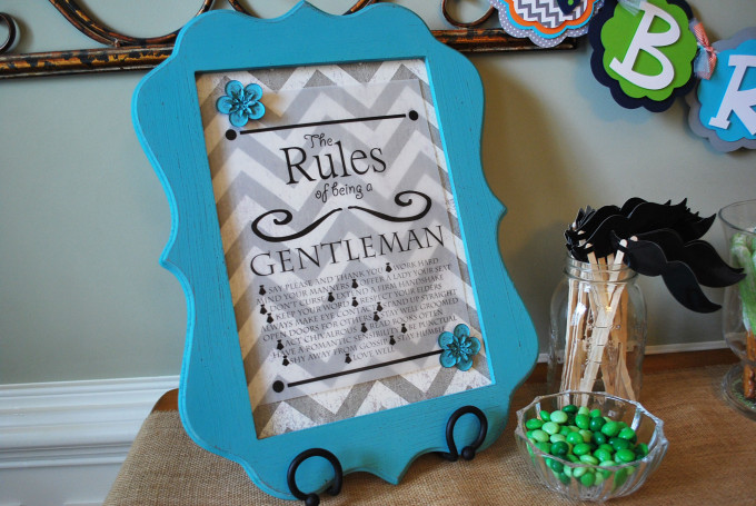 rules of a gentleman sign