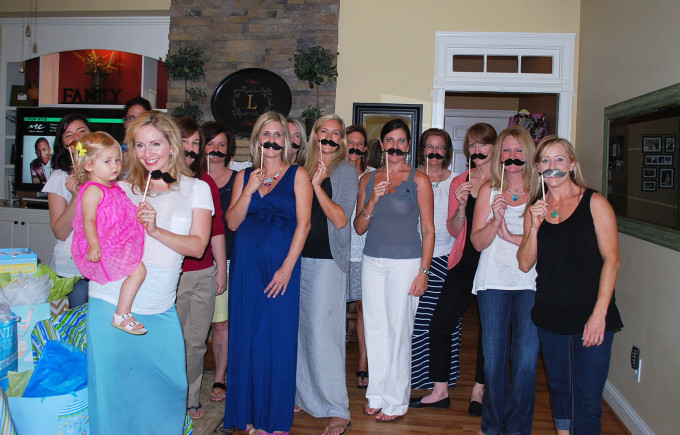 southern gentleman baby shower mustache pic