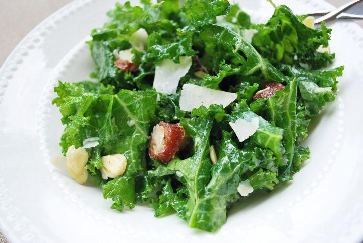 kale salad close up photo