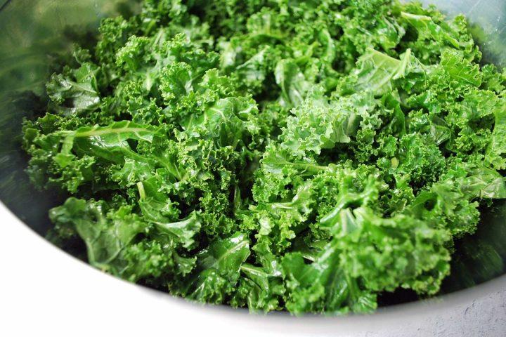 massaged kale in a bowl