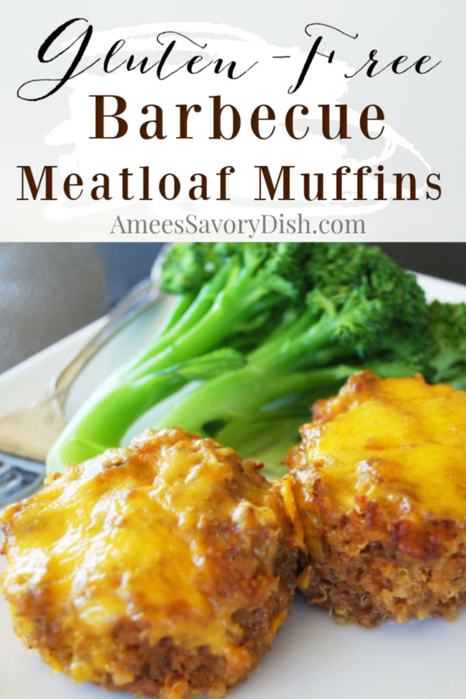 photo of two mini meatloaves with cheese and broccoli
