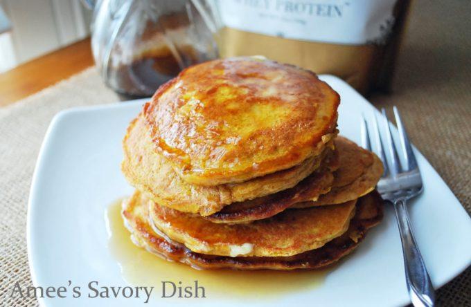 pumpkin flax pancakes