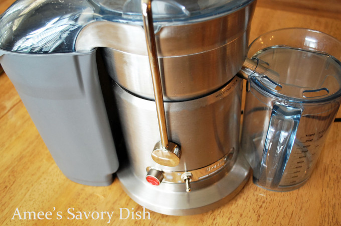 Breville juicer on a counter top