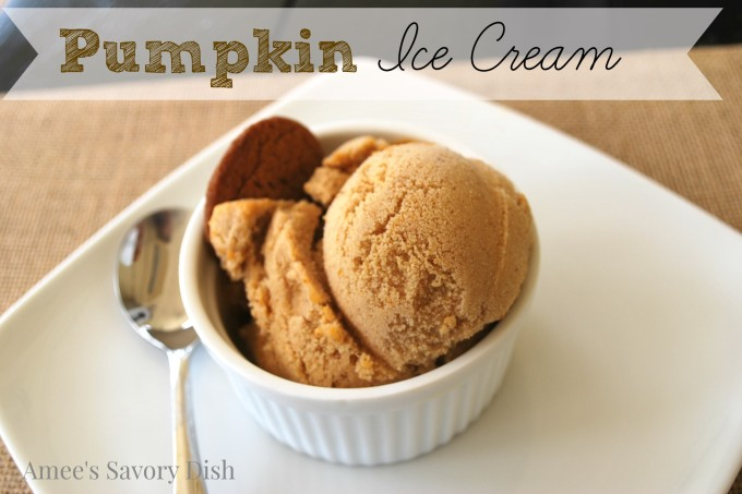 Homemade Pumpkin Ice Cream