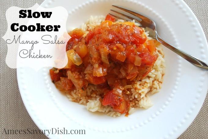 slow cooker mango salsa chicken