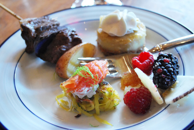 Assorted appetizers on a plate