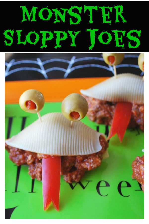 These Monster Sloppy Joes made with jumbo pastas shells, lean ground beef and cheese are easy to make and fun to eat! via @Ameecooks
