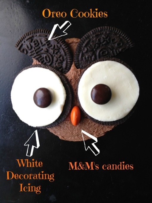 How to make surprise inside oreo owl cupcakes