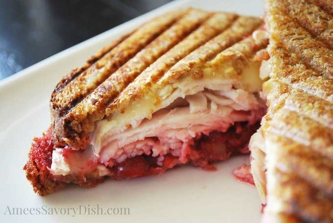 Turkey Cranberry and brie Panini