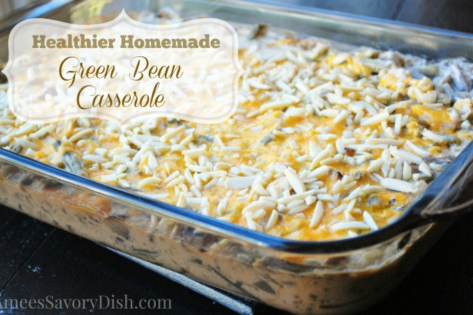 Healthier Homemade Green Bean Casserole  *Gluten-Free Option