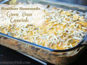 healthier homemade green bean casserole
