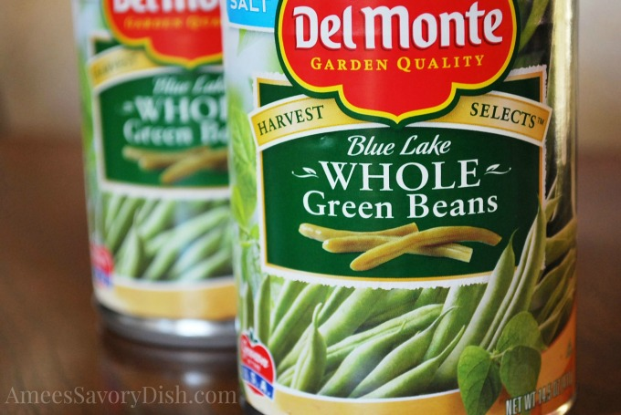 Del Monte canned green beans for green bean casserole from scratch