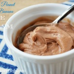 Healthy Blender Recipes are easy to make, like this Chocolate Peanut Butter Banana Ice Cream