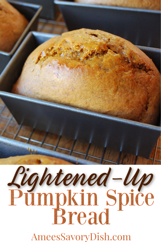 pumpkin bread freshly baked in pans