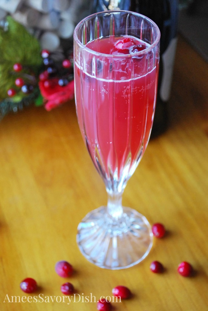Prosecco Berry Spritzer Cocktail