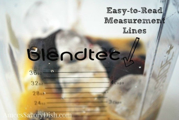 blendtec jar with easy to read measurement lines