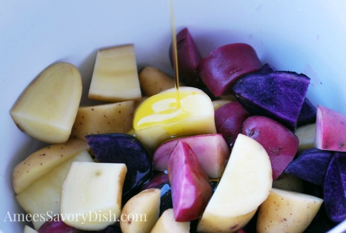 fingerling potatoes, chopped