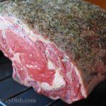 Standing Rib Roast - an impressive roast beef dinner reccipe