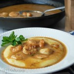Barbecue Shrimp & Polenta