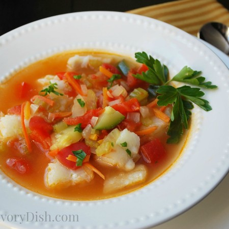 Cajun Fish Soup bowl