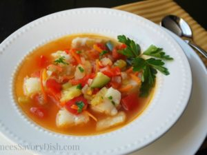 Cajun Fish Soup bowl