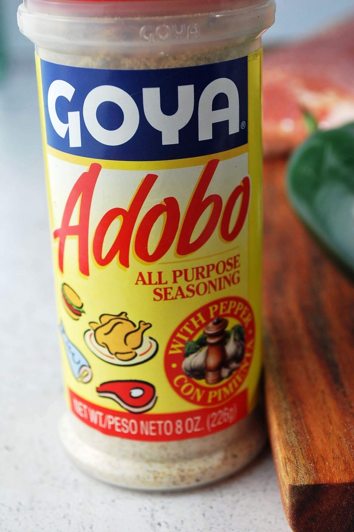 bottle of adobo seasoning