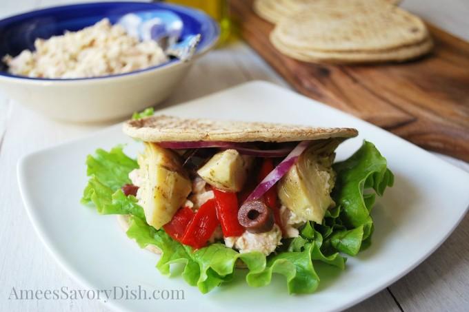 Mediterranean Tuna Salad Wrap
