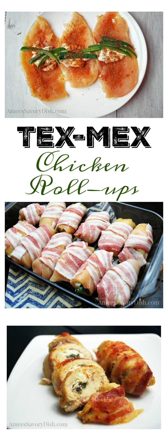 Tex Mex Chicken Roll Ups