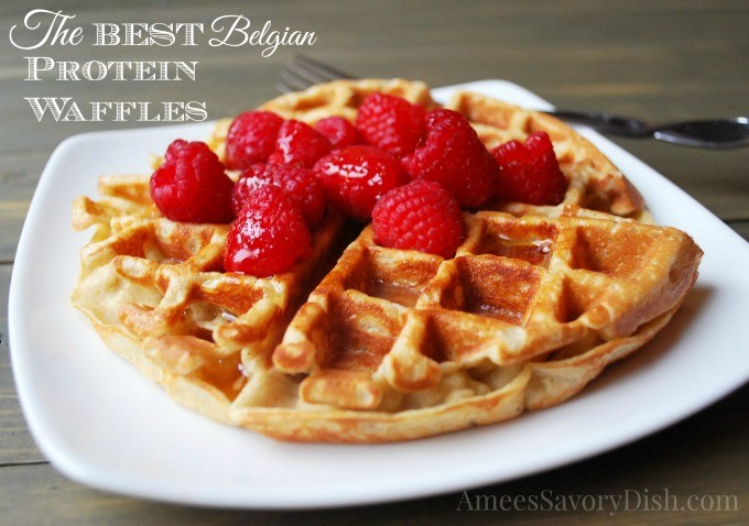 Belgian Protein Waffles