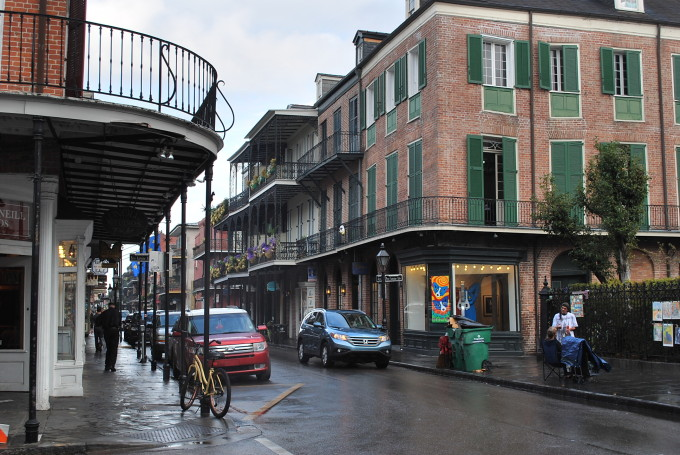 A street view in NOLA
