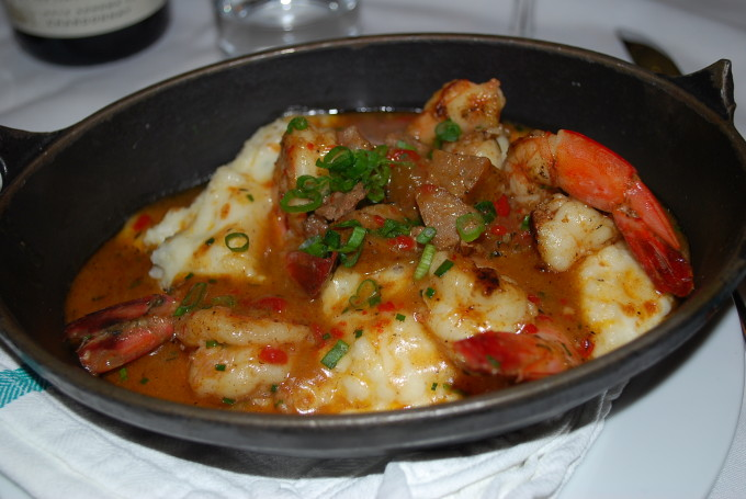 shrimp and grits at Luke